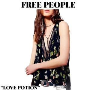 """Never Worn Free People """"Love Potion"""" Top, Size M"""